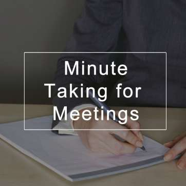 Minute Taking for Meetings
